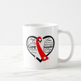 Myelodysplastic Syndromes Heart Ribbon Collage Coffee Mugs