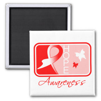 Myelodysplastic Syndromes Hope Awareness Tile 2 Inch Square Magnet