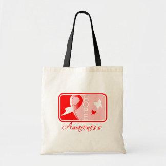 Myelodysplastic Syndromes Hope Awareness Tile Bags