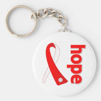 Myelodysplastic Syndromes Hope Ribbon Basic Round Button Keychain