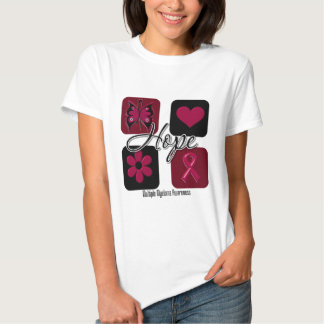 Myeloma Hope Love Inspire Awareness T-Shirt