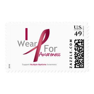 Myeloma - I Wear Burgundy For Awareness Postage Stamp