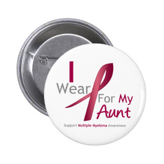Myeloma - I Wear Burgundy For My Aunt Buttons