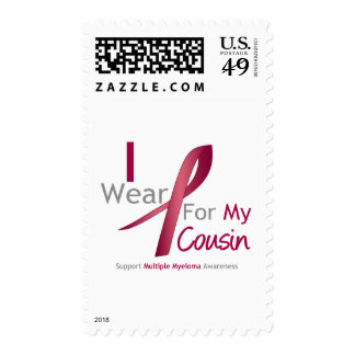 Myeloma - I Wear Burgundy For My Cousin Stamp