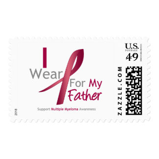 Myeloma - I Wear Burgundy For My Father Postage Stamps