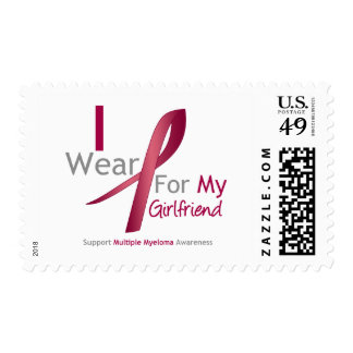 Myeloma - I Wear Burgundy For My Girlfriend Stamps