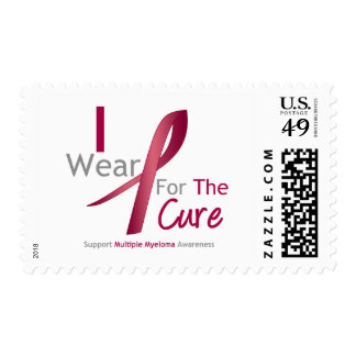 Myeloma - I Wear Burgundy For The Cure Stamps