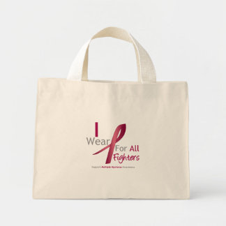 Myeloma - I Wear Burgundy For The Fighters Tote Bags
