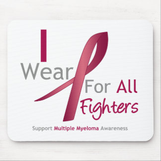 Myeloma - I Wear Burgundy For The Fighters Mouse Pads