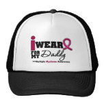 Myeloma I Wear Burgundy Ribbon Daddy Trucker Hat