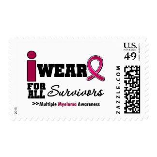 Myeloma I Wear Burgundy Ribbon For All Survivors Stamp