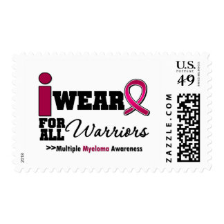 Myeloma I Wear Burgundy Ribbon For All Warriors Stamp
