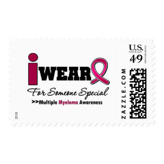 Myeloma I Wear Burgundy Ribbon For Someone Special Stamps