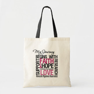 Myeloma My Journey Begins With FAITH Budget Tote Bag