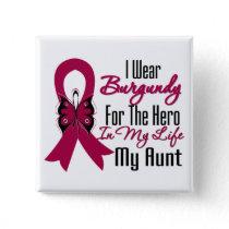 Myeloma Ribbon Hero My Aunt Pinback Button