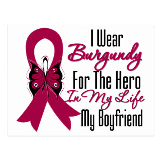 Myeloma Ribbon Hero My Boyfriend Post Card