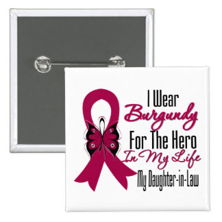 Myeloma Ribbon Hero My Daughter-in-Law 2 Inch Square Button