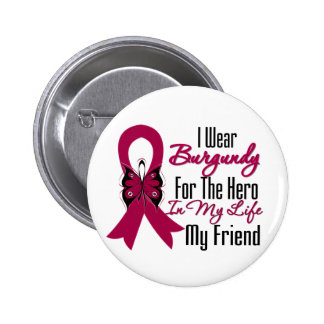 Myeloma Ribbon Hero My Friend 2 Inch Round Button