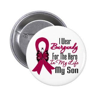 Myeloma Ribbon Hero My Son Pinback Buttons