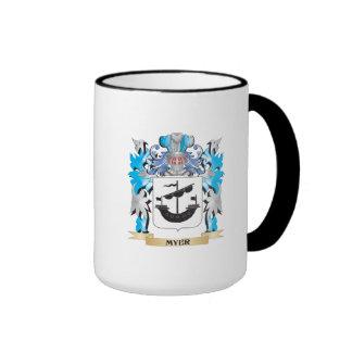 Myer Coat of Arms - Family Crest Ringer Coffee Mug