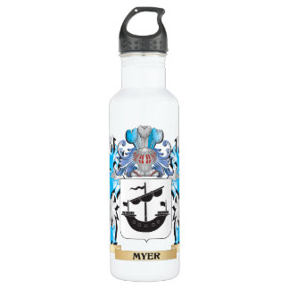 Myer Coat of Arms - Family Crest 24oz Water Bottle