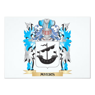 Myers Coat of Arms - Family Crest 5x7 Paper Invitation Card