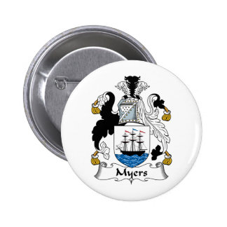 Myers Family Crest Button