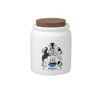 Myers Family Crest Candy Jars