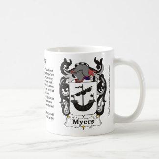 Myers Family Crest mug