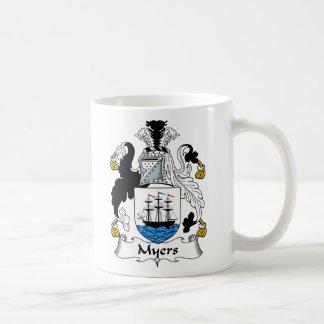 Myers Family Crest Classic White Coffee Mug