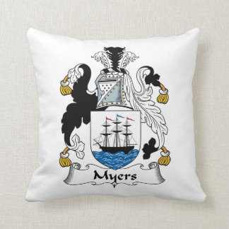 Myers Family Crest Throw Pillows