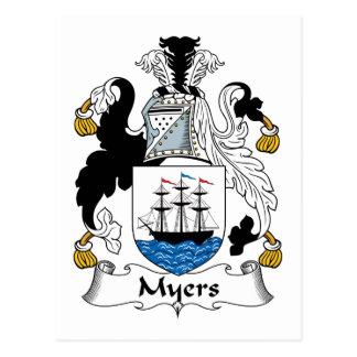 Myers Family Crest Postcard