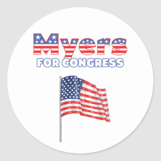 Myers for Congress Patriotic American Flag Classic Round Sticker