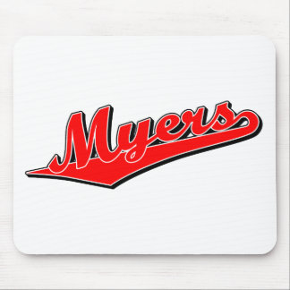 Myers in Red Mouse Pads