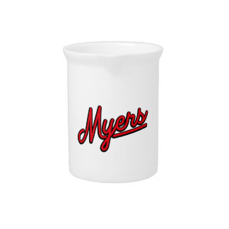 Myers in red pitcher