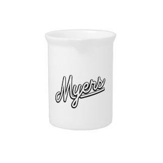 Myers in white pitchers