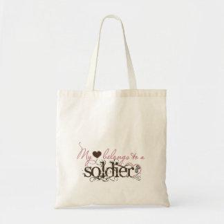 myheartssoldier tote bag