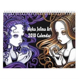 Myka Jelina Art Gothic Fantasy Art Calendar 2010