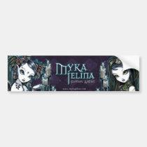 myka, jelina, fantasy, art, logo, bumper, sticker, faeries, Bumper Sticker with custom graphic design