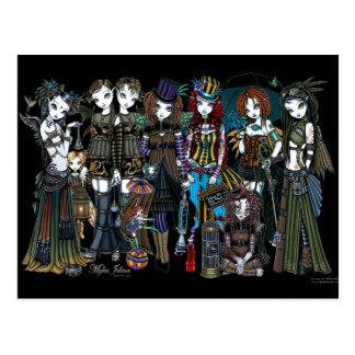 Myka Jelina Steampunk Circus Fairies Postcard