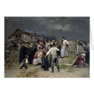 Mykola Pymonenko- Victime del fanatisme Tarjetón