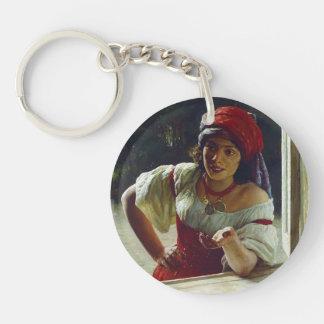 Mykola Yaroshenko- Gypsy Woman Acrylic Keychains