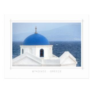Mykonos - AG. Postal de la iglesia de Nicolás