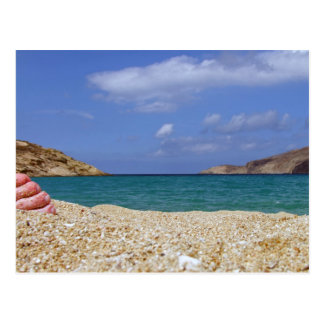 Mykonos beach postcard