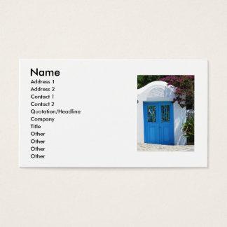 Mykonos, Blue Door, Greece Business Cards