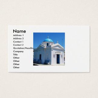 Mykonos, Greece, Orthodox Church, Business Cards