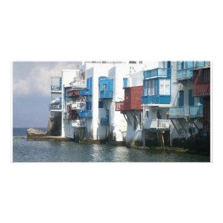 Mykonos, Greece Personalized Photo Card