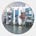 Mykonos, Greece Round Sticker