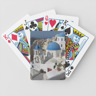 Mykonos Greece Travel Bicycle Playing Cards