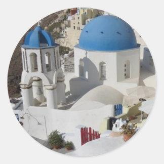 Mykonos Greece Travel Classic Round Sticker